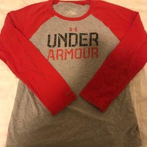 EUC Under Armour Loose Baseball Long Sleeve YL